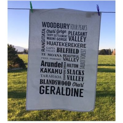 woodbury geraldine school fundraising tea towel