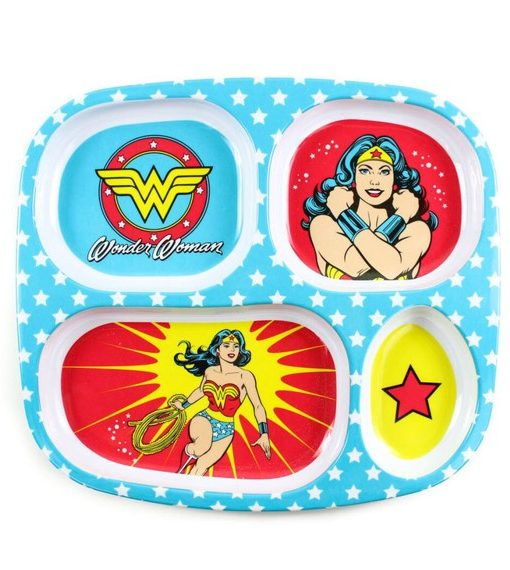 DC Comics Wonder Woman melamine divided plate