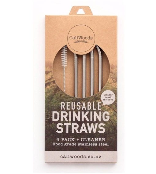 caliwoods drinking straws stainless steel