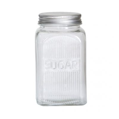 classic glass canister sugar