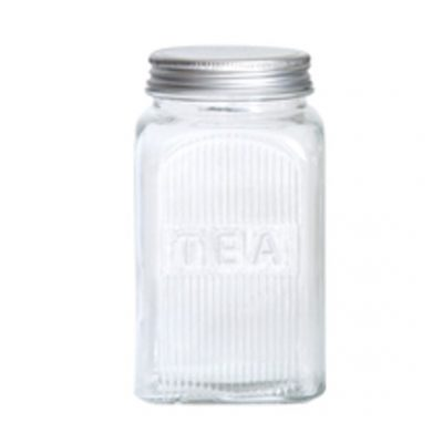classic glass canister tea