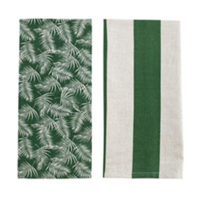 tea towel palm amazon green