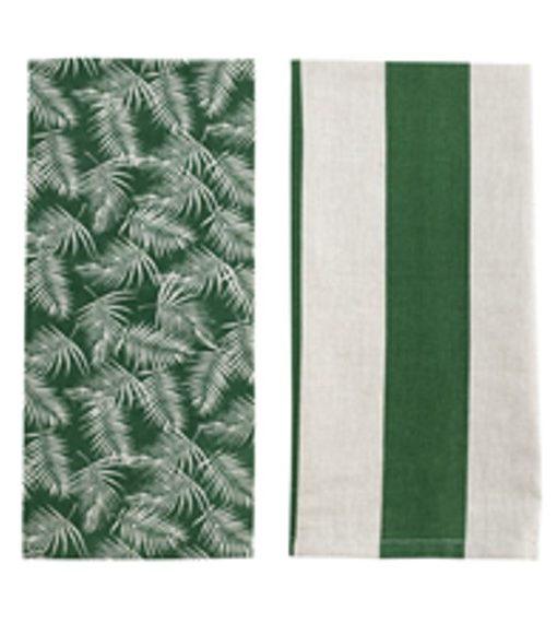 tea towel palm amazon green