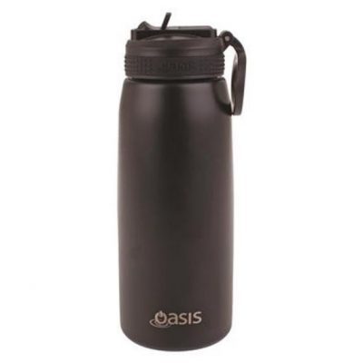 Oasis sports bottle 780ml with straw black