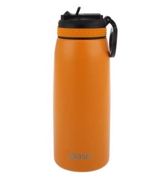 Oasis sports bottle 780ml with straw burnt orange