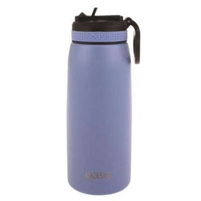 Oasis sports bottle 780ml with straw lilac