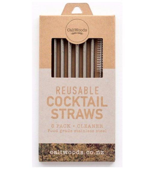 CaliWoods Reusable Cocktail Straws