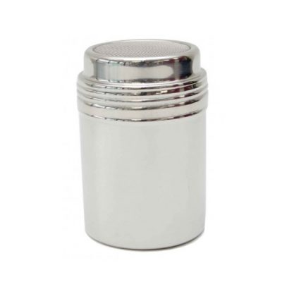 Appetito stainless steel flour sugar shaker
