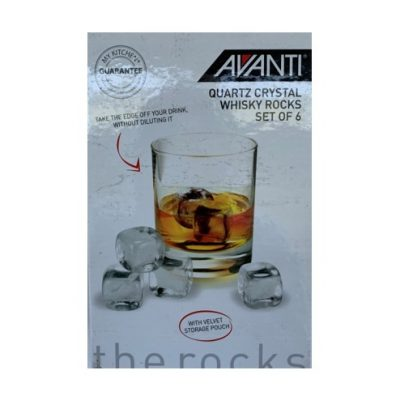 Avanti Quartz Crystal whisky rocks