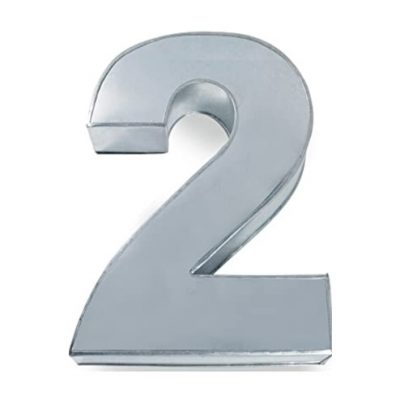 number two cake pan