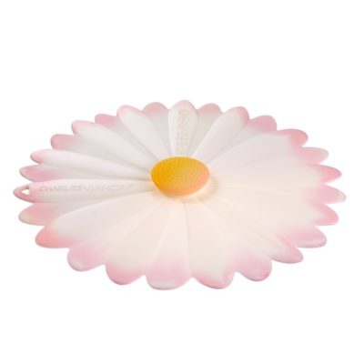 Charles Viancin Silicone lid daisy pink white