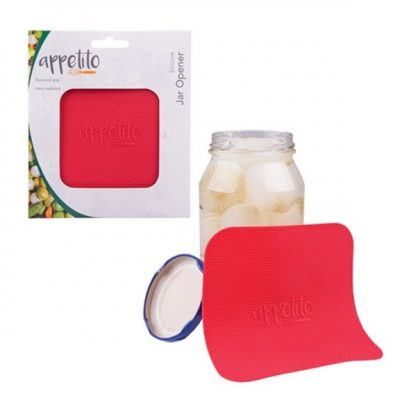 Appetito silicone jar opener red