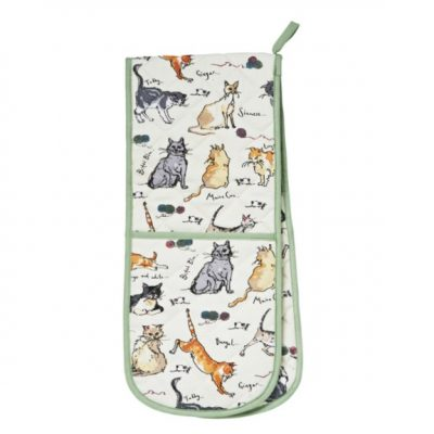 Ulster Weavers double oven glove cats
